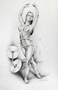 "Artist: Francisco Serech. Year: 2015. Title: ""El Juego"" Bailarina. Medium: Graphite on cartridge paper. Contact info:  WhatsApp: 56053318 mail: franciscooserech@hotmail.com Websites:  https://www.facebook.com/francisco.serech.5      https://www.facebook.com/Francisco-Serech-410976838963450/ https://twitter.com/FranciscoSerech  https://www.linkedin.com/in/francisco-serech-0131b358/"